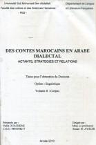 Des contes marocains en arabe dialectal actants, stratégies et relations