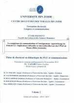 La compétence de communication et l'enseignement / apprentissage du Français L2: implications culturelles et interculturelles