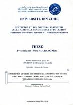 Contribution à l'étude de l'effet de la communication interne sur la motivation des cadres de la fonction publique