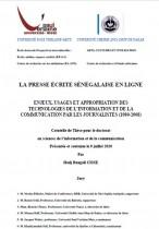 La presse écrite Sénégalaise en ligne