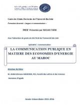 La communication publique en matière des économies d'énergie au Maroc