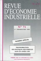 Transformations des politiques industrielles dans les années 1990