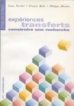 Expériences transferts : Construire une recherche