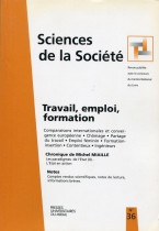 Travail, emploi, formation
