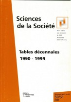 Tables décennales 1990-1999