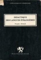 Didactique des langues étrangères : Français, Allemand