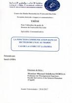 La fonction communication dans le secteur de l'eau au Maroc : cas de la LYDEC et RAMSA