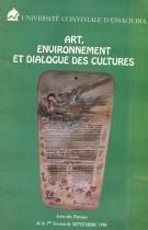Art, Environnement et dialogue des cultures