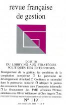 Du lobbying aux stratégies politiques des entreprises
