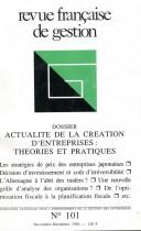 Actualité de la création d'entreprises : Théories et pratiques