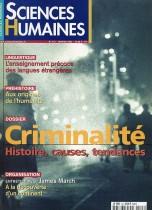 Criminalité Histoire, causes, tendances