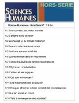 Sciences Humaines Classeur (N° Hors-Série 1 à 14)