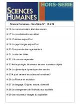 Sciences Humaines Classeur (N° Hors-Série 16 à 29)
