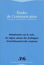 Études de communication : Métadonnées sur le web : Les enjeux autour des techniques d'enrichissement des contenus