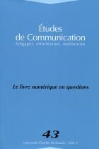 Études de communication : Le livre numérique en question
