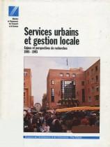Services urbains et gestion locale : Enjeux et perspectives de recherches 1985 - 1993